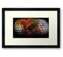 THE WORLD IN MESH  Framed Print