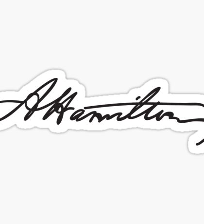 Alexander Hamilton Signature Sticker