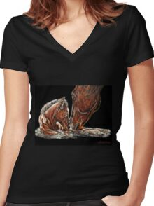 Spring 2, Rebirth Women's Fitted V-Neck T-Shirt