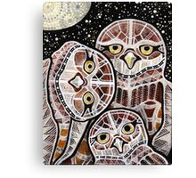 Burrowing Owl Family Canvas Print