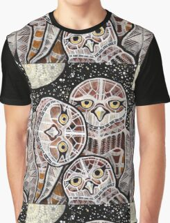 Burrowing Owl Family Graphic T-Shirt