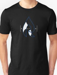 Faze Rain | Raindrop Blue, White and Black | Logo | Black Background |  T-Shirt