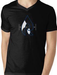 Faze Rain | Raindrop Blue, White and Black | Logo | Black Background |  Mens V-Neck T-Shirt