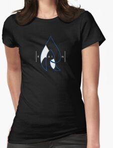 Faze Rain | Raindrop Blue, White and Black | Logo | Black Background |  Womens Fitted T-Shirt