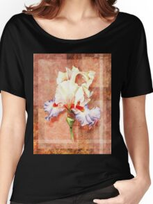 Gorgeous Iris Decorative Painting Women's Relaxed Fit T-Shirt