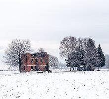 snow covering an abandoned farm by zakaz86