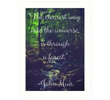 Inspirational Nature: John Muir Art Print