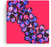 Pretty Pink and Purple Painted Flowers Canvas Print