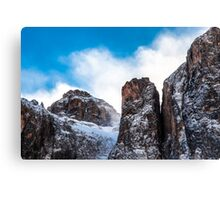 wind on the summit of the mountain Canvas Print