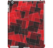 Abstract Red and Black Squares iPad Case/Skin
