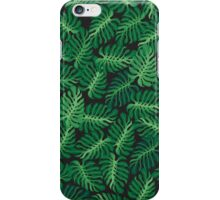 Tropical foliage pattern iPhone Case/Skin