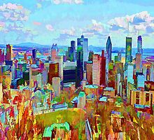 Montreal Skyline from Mount Royal by JoAnnFineArt