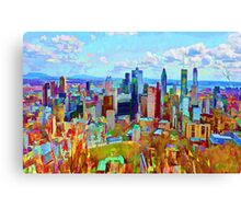 Montreal Skyline from Mount Royal Canvas Print