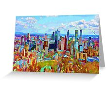 Montreal Skyline from Mount Royal Greeting Card