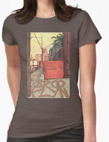 brooklyn sidewalk Womens Fitted T-Shirt