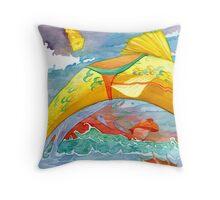Soaring Fish Throw Pillow