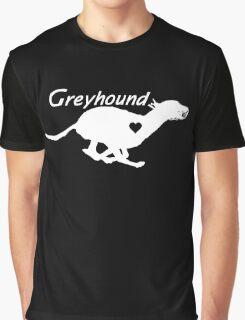 Greyhound <3 (in white) Graphic T-Shirt