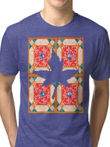 Patchwork beautiful style contry orange  Tri-blend T-Shirt