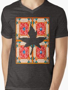 Patchwork beautiful style contry orange  Mens V-Neck T-Shirt