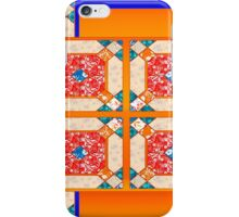 Patchwork beautiful style contry orange  iPhone Case/Skin