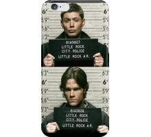 Sam and Dean Mugshots iPhone Case/Skin