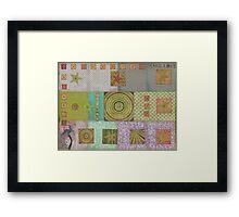 Bullseye Quilt Framed Print