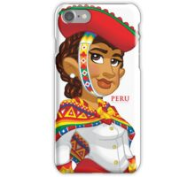 Peruana - White iPhone Case/Skin