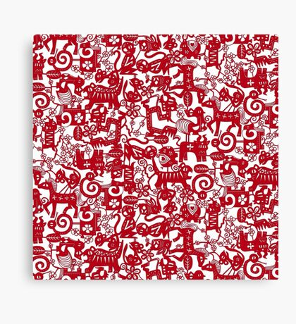 paper zodiac red Canvas Print