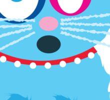 Funny Blue Cat Named Scruffy Sticker