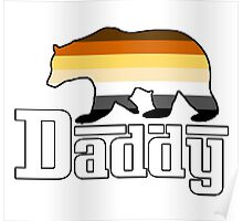 white daddy bear Poster