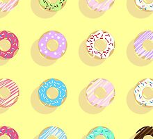 Colorful Doughnut Pattern Phone Case by snja