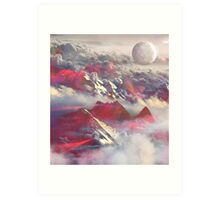 Above the clouds Art Print
