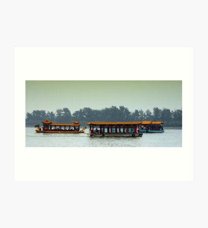 Beijing: Summer Palace Lake Outing Art Print
