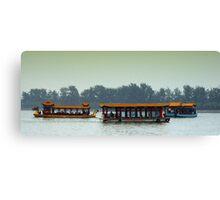 Beijing: Summer Palace Lake Outing Canvas Print