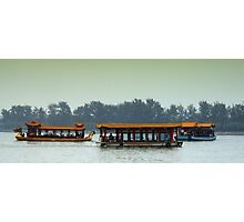 Beijing: Summer Palace Lake Outing Photographic Print