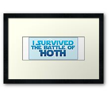 I Survived The Battle of Hoth Framed Print