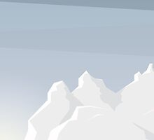 Winter landscape Illustration phone case by snja