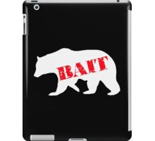 polar bear bait iPad Case/Skin