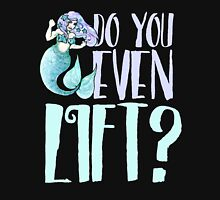 Do you even lift mermaid fitness Women's Fitted Scoop T-Shirt