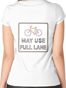 May use the full lane Women's Fitted Scoop T-Shirt