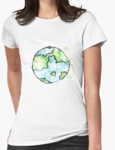 Vintage earth day respect and love mother earth Womens Fitted T-Shirt