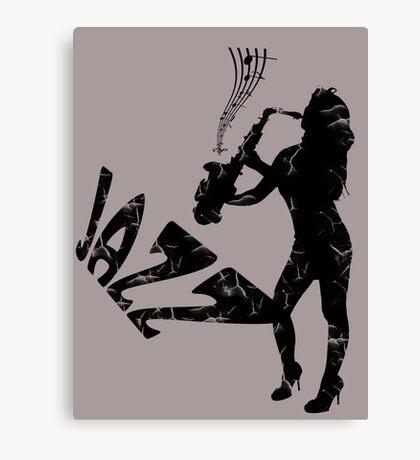 saxophone, jazz girl Canvas Print