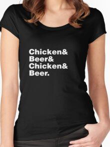 Chicken and Beer Women's Fitted Scoop T-Shirt