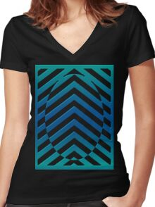 Abstract style kinetic style  Women's Fitted V-Neck T-Shirt