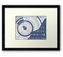 Internet Technology Background Framed Print
