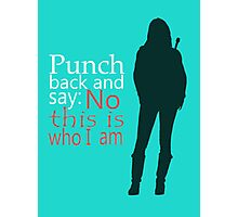 Emma Swan ~ Punch Back Photographic Print