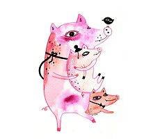 Three and Free Little Pigs by Kristina Sabaite
