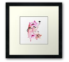 Three and Free Little Pigs Framed Print
