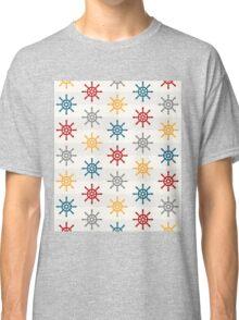 Colorful Wheel Stripes Nautical Pattern Classic T-Shirt