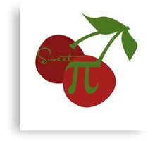 Sweet Cherry Pi Day math geek Canvas Print